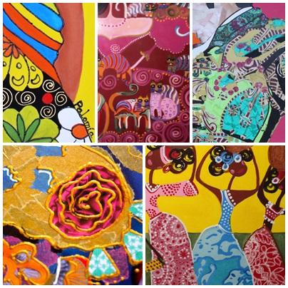 Detalles de color de algunos de mis cuadros